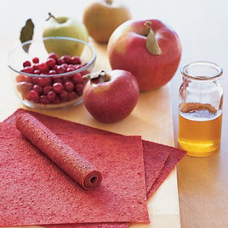 Apple-Cranberry Fruit Leather.