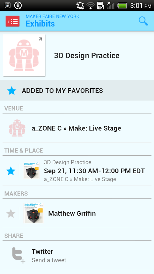 Maker Faire - The Official App - screenshot