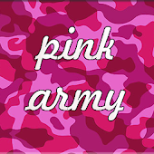 GO Keyboard Pink Army