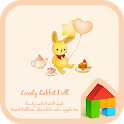 lovely rabbit doll dodol theme icon
