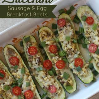 Sausage & Egg Zucchini Breakfast Boats