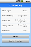 Screenshot of iTransitBuddy METRA Lite