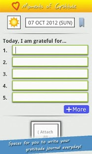'Moments of Gratitude' Journal- screenshot thumbnail