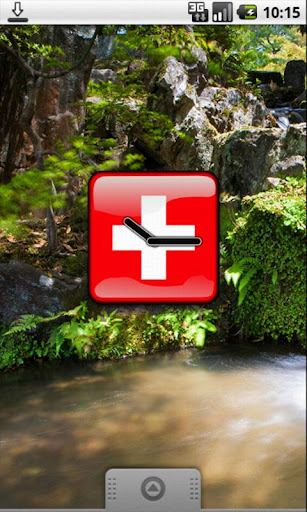 Switzerland Flag Clock Widget