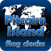Pitcairn Island flag clocks