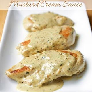 Chiken with Mustard Cream Sauce