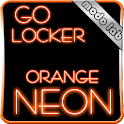 Orange neon GO Locker theme icon
