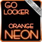 Orange neon GO Locker theme icon