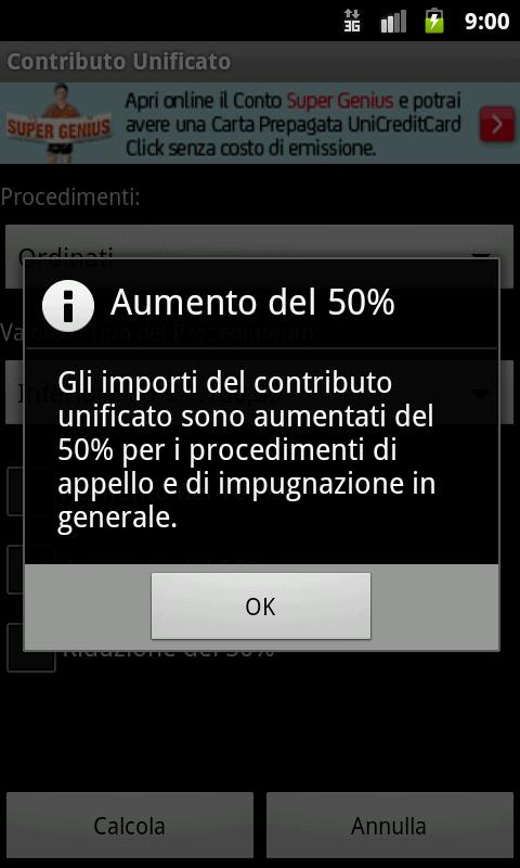 Contributo Unificato - screenshot