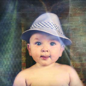 at the movies by Diane Hallam - Babies & Children Babies ( child, family, children, boy, hat )