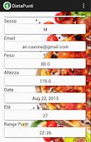 Screenshot of Diario Dieta Punti Free