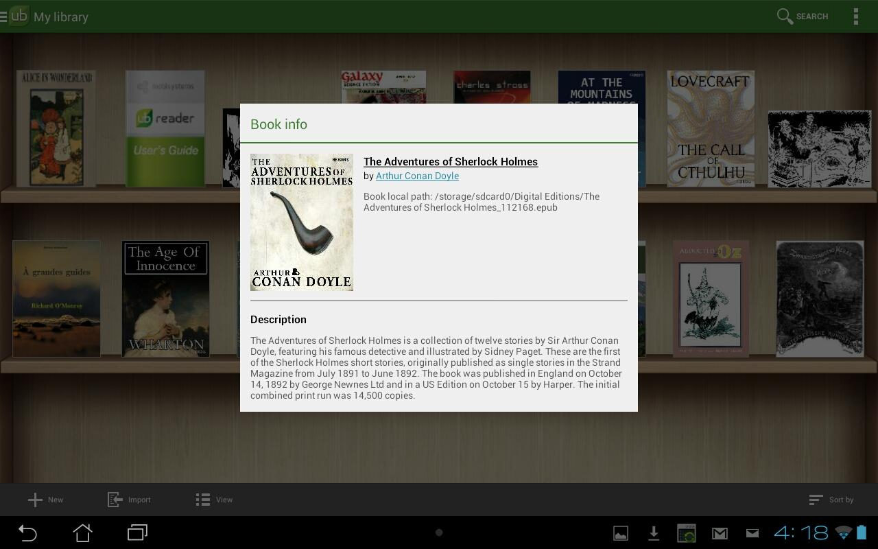 Universal Book Reader - screenshot