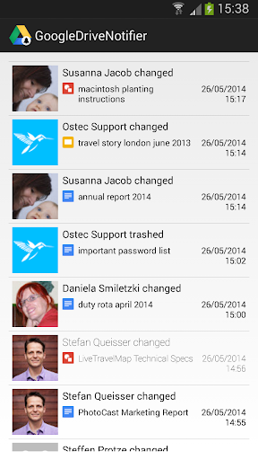 Google Drive Notifier