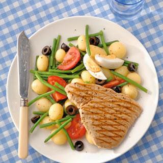 Gegrilde Tonijn Met Salade