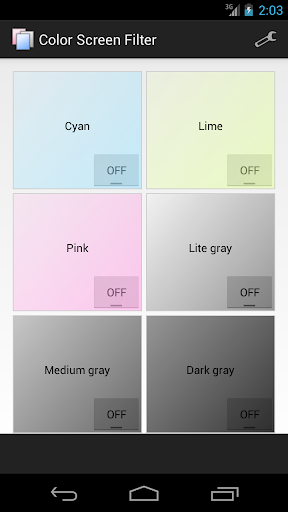 Color Screen Filter