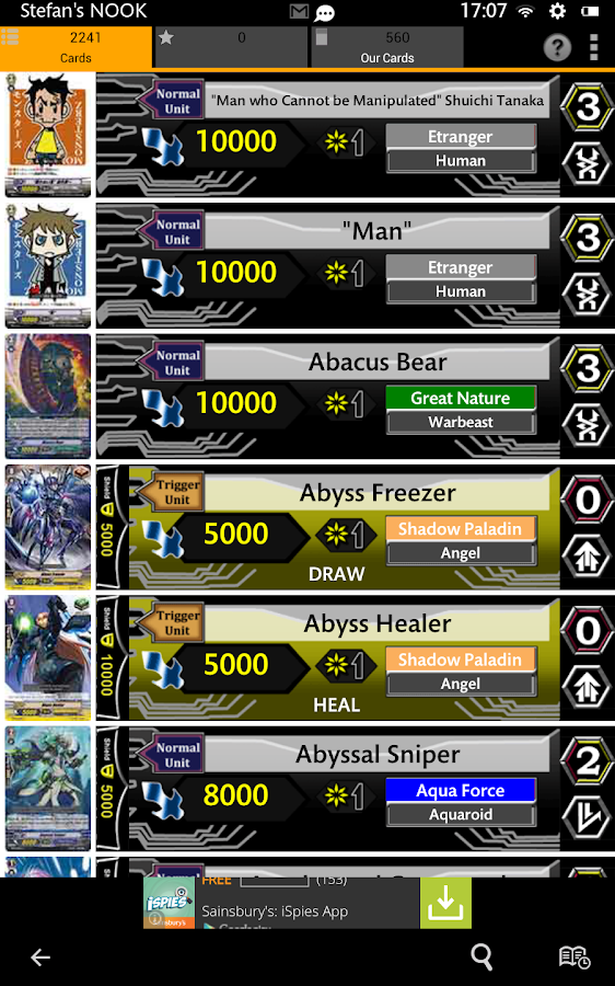 Cardfight Vanguard Database - Android Apps on Google Play