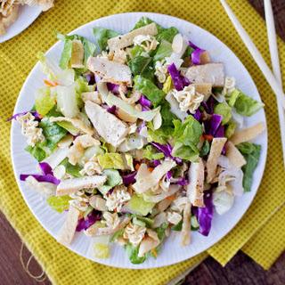 Crisp and Crunchy Asian Ramen Salad.