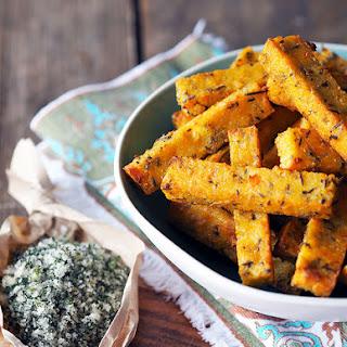 Ricotta & Polenta Chips, Baked