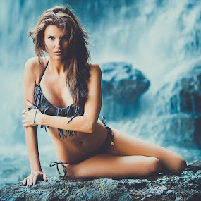 Marysa by Aaron Woodall - People Fashion ( sexy, fashion, model, swimsuit, swimwear, waterfall )