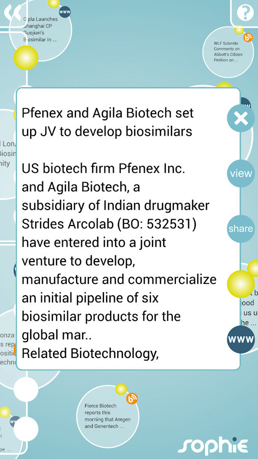 Sophie: Pharma & Biotech- screenshot