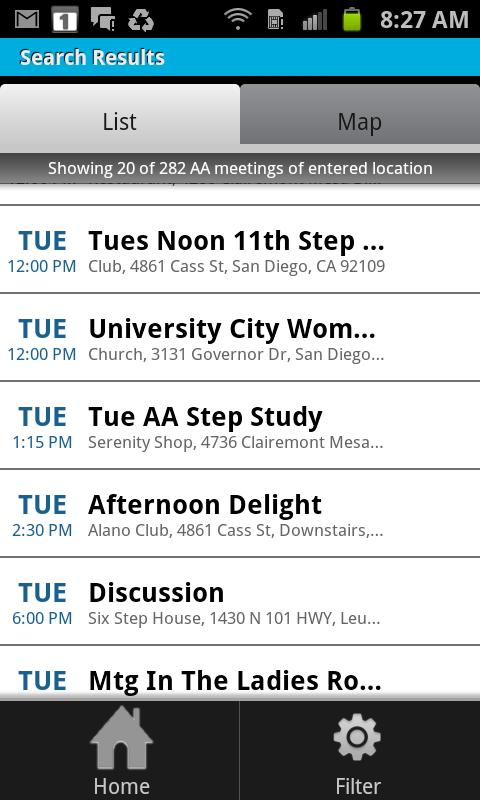 Meeting Finder - screenshot