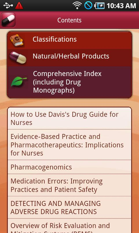 Davis's Drug Guide for Nurses Screenshot 1