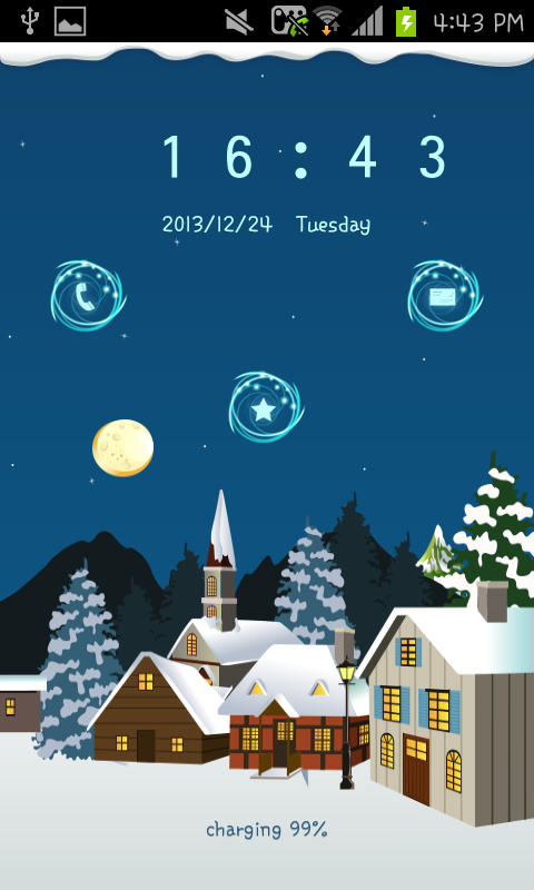 snow village go locker theme - screenshot