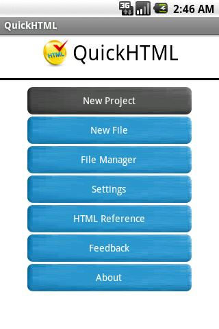 QuickHTML- screenshot