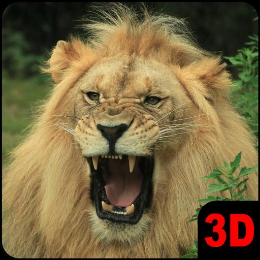 鹿生存狮子狩猎3D LOGO-APP點子