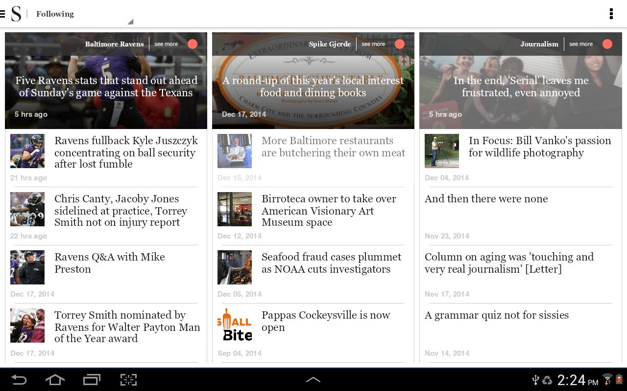 Baltimore Sun - screenshot