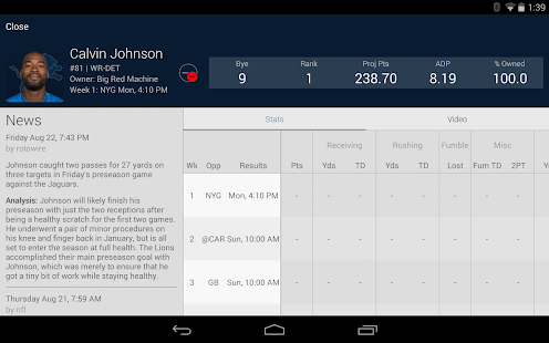 NFL Fantasy Football Screenshot 15