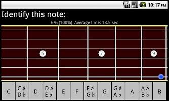 Screenshot of RR Guitar Fretboard Trainer LT