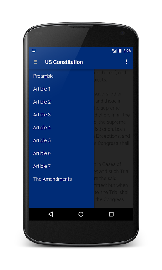 US Constitution- screenshot