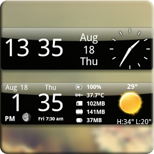 Smoked Glass Weather Clock 4.2.4 Icon