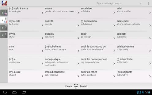 Dictionary French English - screenshot thumbnail