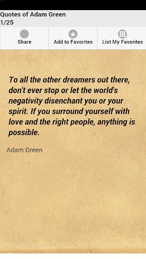 Quotes of Adam Green