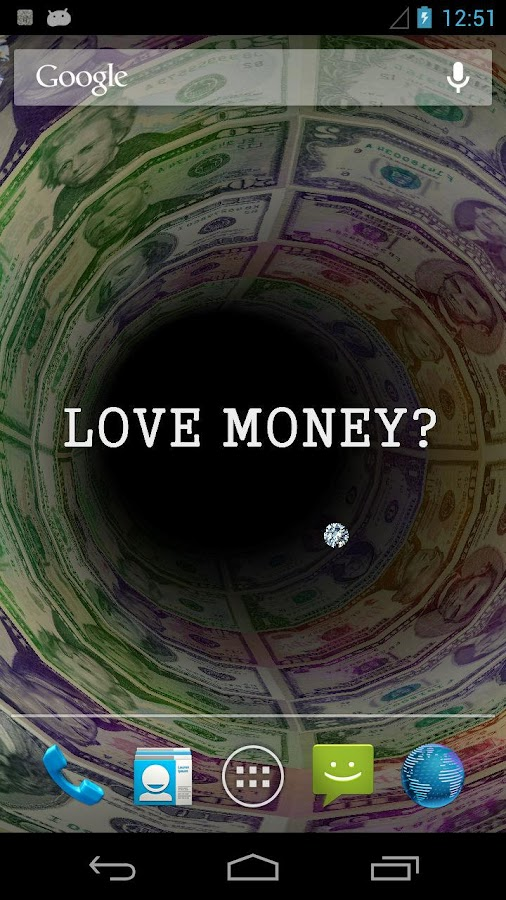 Money Tunnel Live Wallpaper +- screenshot