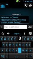 Screenshot of GO Keyboard Black ICS