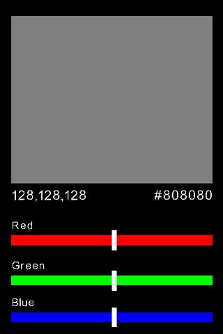 RGB HEX Color Selector