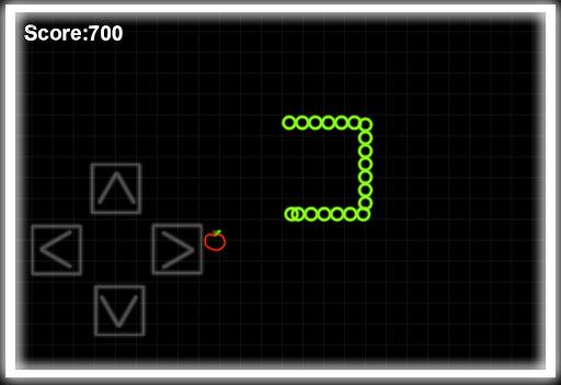 Glow Snake Retro Arcade Game