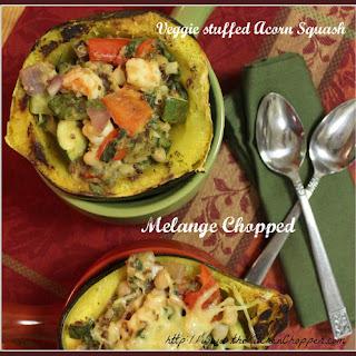 Veggie stuffed Acorn Squash Melange Chopped