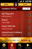Screenshot of Indian Music Library - Twaang