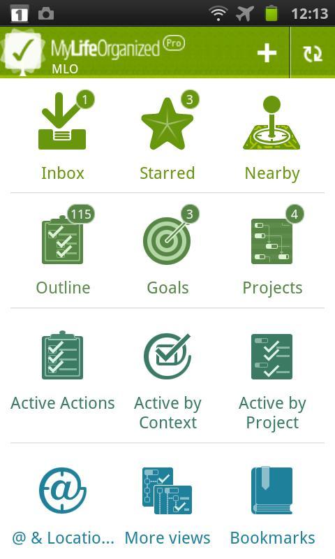 MyLifeOrganized- screenshot