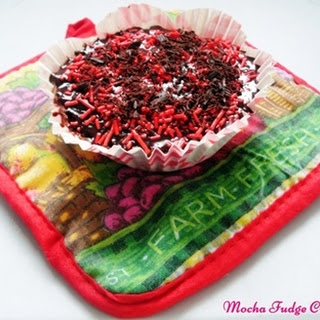 Mocha Fudge Cupcake.