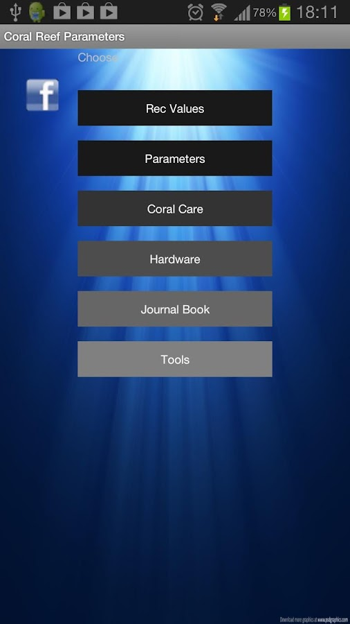 Coral Reef Parameters (2.3.3) - screenshot