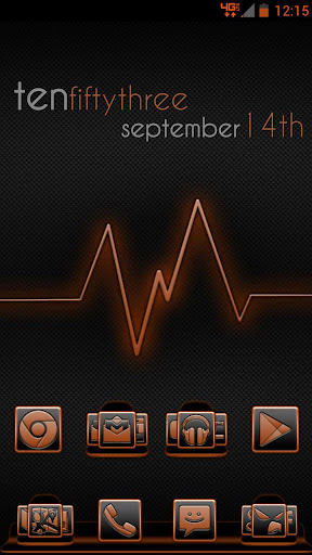 Serenity Launcher Theme Orange