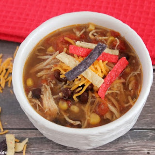 Healthy Chicken Tortilla Soup Slow Cooker