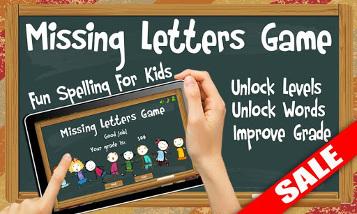 Missing Letters Spelling Kids