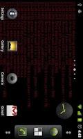 Screenshot of Matrix Log Live Wallpaper