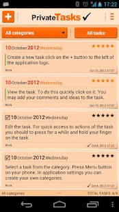 ToDo list - Private Tasks Free - screenshot thumbnail